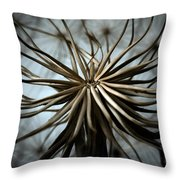 dandelion Throw Pillow by Stylianos Kleanthous