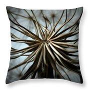 Dandelion Throw Pillow by Stelios Kleanthous
