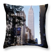 Empire State Building Throw Pillow by Jon Neidert