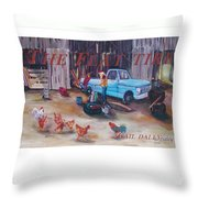 Flat Tire Throw Pillow by Gail Daley