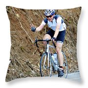 Gran Fondo Throw Pillow by Susan Leggett