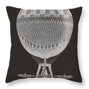 Hot Air Balloon Throw Pillow by Aged Pixel