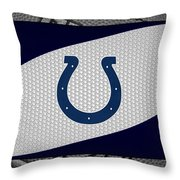 Indianapolis Colts Throw Pillow by Joe Hamilton
