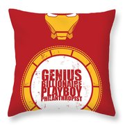 Iron Man Throw Pillow by Unknow