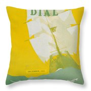 Morse Dry Dock Dial Throw Pillow by Edward Hopper