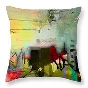 Nashville Skyline Watercolor Throw Pillow by Marvin Blaine