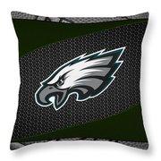 Philadelphia Eagles Throw Pillow by Joe Hamilton