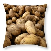 Potatoes Throw Pillow by Olivier Le Queinec