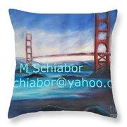 San Francisco Golden Gate Bridge Throw Pillow by Eric  Schiabor