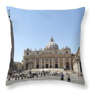 St Peter's Square. Vatican City. Rome. Lazio. Italy. Europe  Throw Pillow by Bernard Jaubert