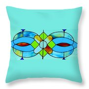 Stained Glass Window Throw Pillow by Janette Boyd