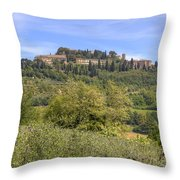 Tuscany - Montepulciano Throw Pillow by Joana Kruse