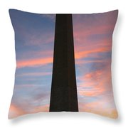 Washington Monument Throw Pillow by Olivier Le Queinec
