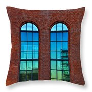 Windows Throw Pillow by Kent Mathiesen