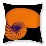 X-ray Of Nautilus Throw Pillow by Bert Myers