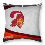 Tampa Bay Buccaneers Throw Pillow by Joe Hamilton