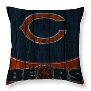 Chicago Bears Throw Pillow by Joe Hamilton