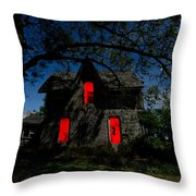 3am At The Farmhouse  Throw Pillow by Cale Best