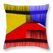3D Abstract 1 Throw Pillow by Angelina Vick
