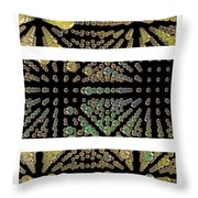 3d Spheres Throw Pillow by Susan Leggett