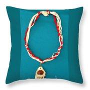 Aphrodite Genetyllis Necklace Throw Pillow by Augusta Stylianou