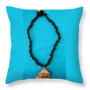 Aphrodite Melainis Necklace Throw Pillow by Augusta Stylianou