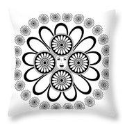 Art Nouveau Woman Throw Pillow by Frank Tschakert