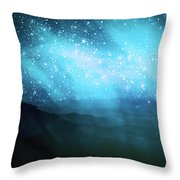 Aurora Borealis Throw Pillow by Setsiri Silapasuwanchai
