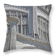 Bahai Temple Wilmette Throw Pillow by Rudy Umans