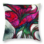 Beautiful Flower Throw Pillow by Melinda Firestone-White