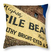 Bile Beans Advertising Throw Pillow by Bailey Cooper