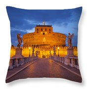 Castel Sant Angelo Throw Pillow by Brian Jannsen