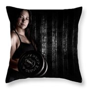 Fitness Model Throw Pillow by Jt PhotoDesign