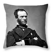 General William Tecumseh Sherman Throw Pillow by War Is Hell Store