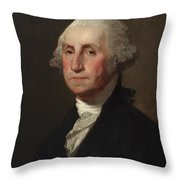 George Washington Throw Pillow by Gilbert Stuart