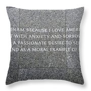 Martin Luther King Jr Memorial Throw Pillow by Allen Beatty