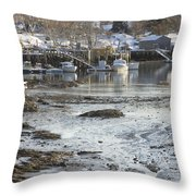 South Bristol On The Coast Of Maine Throw Pillow by Keith Webber Jr