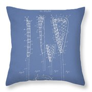 Vintage Lacrosse Stick Patent from 1908 Throw Pillow by Aged Pixel