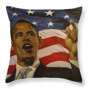 44th President of Change  Throw Pillow by Jamie Preston
