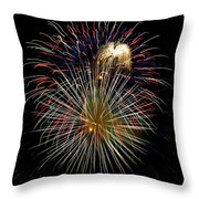 4th Of July 1 Throw Pillow by Marilyn Hunt