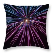 4th Of July 2014 Fireworks Bridgeport Hill Clarksburg Wv 1 Throw Pillow by Howard Tenke