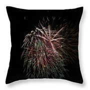 4th Of July Fireworks Throw Pillow by Alan Hutchins