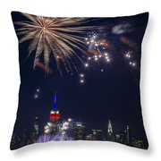4th Of July Fireworks Throw Pillow by Eduard Moldoveanu