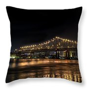 4th Of July In The Big Easy Throw Pillow by David Morefield