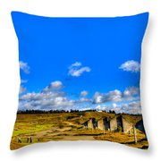 #18 At Chambers Bay Golf Course  Throw Pillow by David Patterson