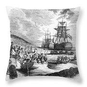 Boston: Evacuation, 1776 Throw Pillow by Granger