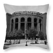 Busch Stadium - St. Louis Cardinals Throw Pillow by Frank Romeo