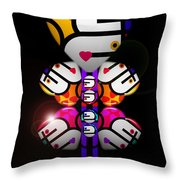 Figure Throw Pillow by Charles Stuart