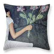 Flowers Throw Pillow by Joana Kruse
