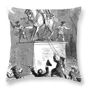 George IIi Statue, 1776 Throw Pillow by Granger